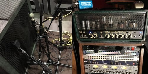 Recording studio in Cyprus - Electric guitar gear